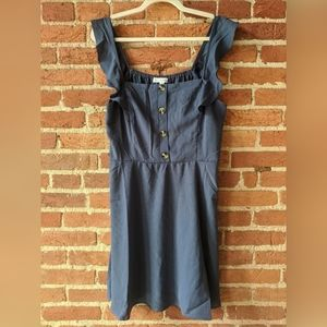 NWT Bailey Blue Ruffle Dress w Buttons Blue sz M